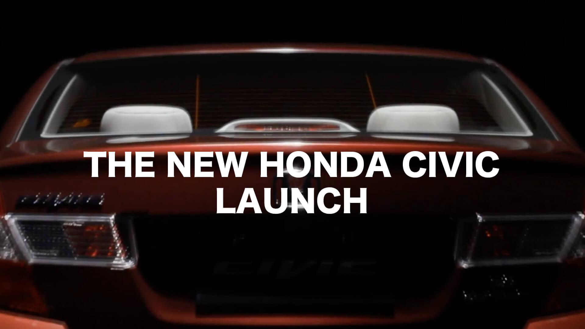 Project  The New Honda Civic Lauch  Honda Civic Online